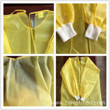 Yellow Isolation Gown with CE certificate PP+PE laminated